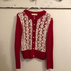 ~AREVE~ Crochet Lace sweater cardigan